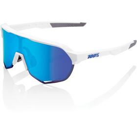 100% S2 Gafas, matte white hiper silver/hiper mirror